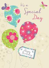 Birthday Balloons Birthday Greeting Card