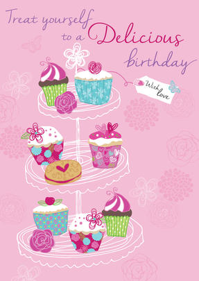 Delicious Birthday Greeting Card
