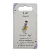 Guardian Angel June Birthstone Angel Pin With Gem Stone