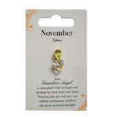 Guardian Angel November Birthstone Angel Pin With Gem Stone
