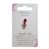Guardian Angel October Birthstone Angel Pin With Gem Stone