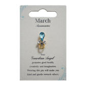 Guardian Angel March Birthstone Angel Pin With Gem Stone