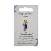 Guardian Angel September Birthstone Angel Pin With Gem Stone