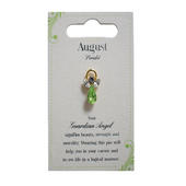 Guardian Angel August Birthstone Angel Pin With Gem Stone