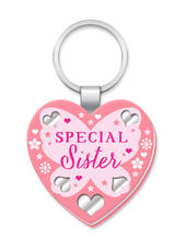 Special Sister More Than Words Mirror Keyring