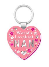 Loveliest Nan More Than Words Mirror Keyring