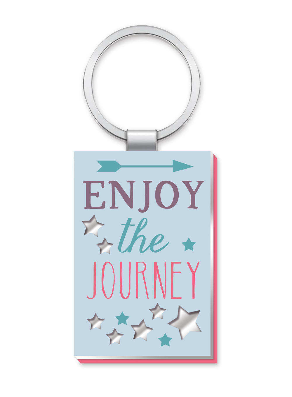 Enjoy The Journey More Than Words Mirror Keyring