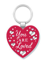 You Are Loved More Than Words Mirror Keyring