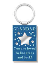 Grandad More Than Words Mirror Keyring
