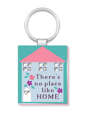 No Place Like Home More Than Words Mirror Keyring