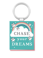 Chase Your Dreams More Than Words Mirror Keyring