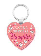 Special Daughter More Than Words Mirror Keyring