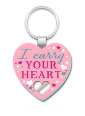 I Carry Your Heart More Than Words Mirror Keyring