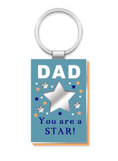 Dad More Than Words Mirror Keyring