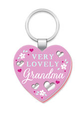 Very Lovely Grandma More Than Words Mirror Keyring