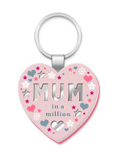 Mum In A Million More Than Words Mirror Keyring