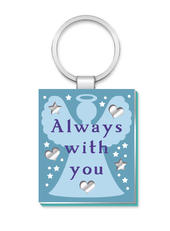 Always With You More Than Words Mirror Keyring