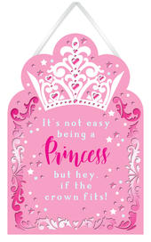 It's Not Easy Being A Princess Hanging Plaque With Ribbon