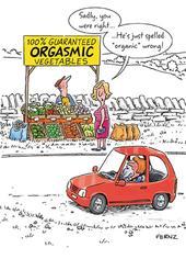 Orgasmic Vegetables Funny Birthday Greeting Card
