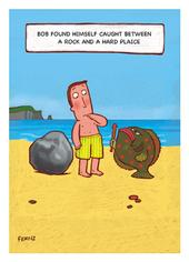 Rock & A Hard Plaice Funny Bob On Birthday Greeting Card