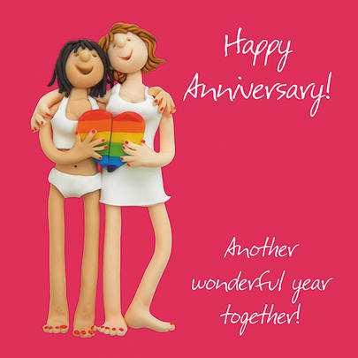 Female Couple Anniversary Greeting Card