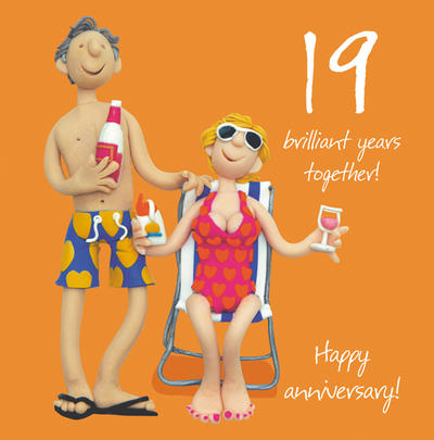 19th Wedding Anniversary Greeting Card