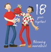 18th Wedding Anniversary Greeting Card