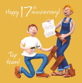 17th Wedding Anniversary Greeting Card