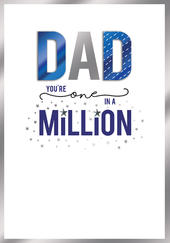 Dad You're One In A Million Embellished Father's Day Card