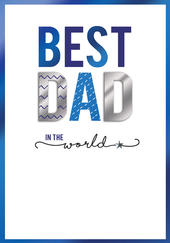 Best Dad In The World Embellished Father's Day Card