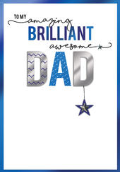 Amazing Brilliant Awesome Dad Embellished Father's Day Card