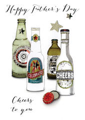 Happy Cheers To You Joie De Vivre Embellished Father's Day Card