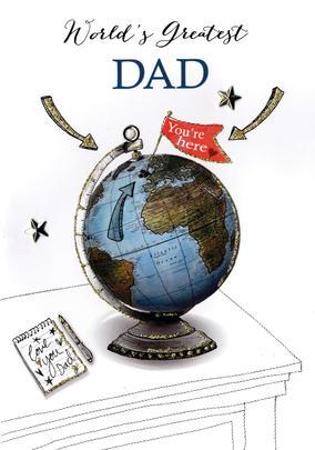 World's Greatest Dad Joie De Vivre Embellished Father's Day Card