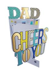 Dad Cheers To You 3D Cutting Edge Father's Day Card