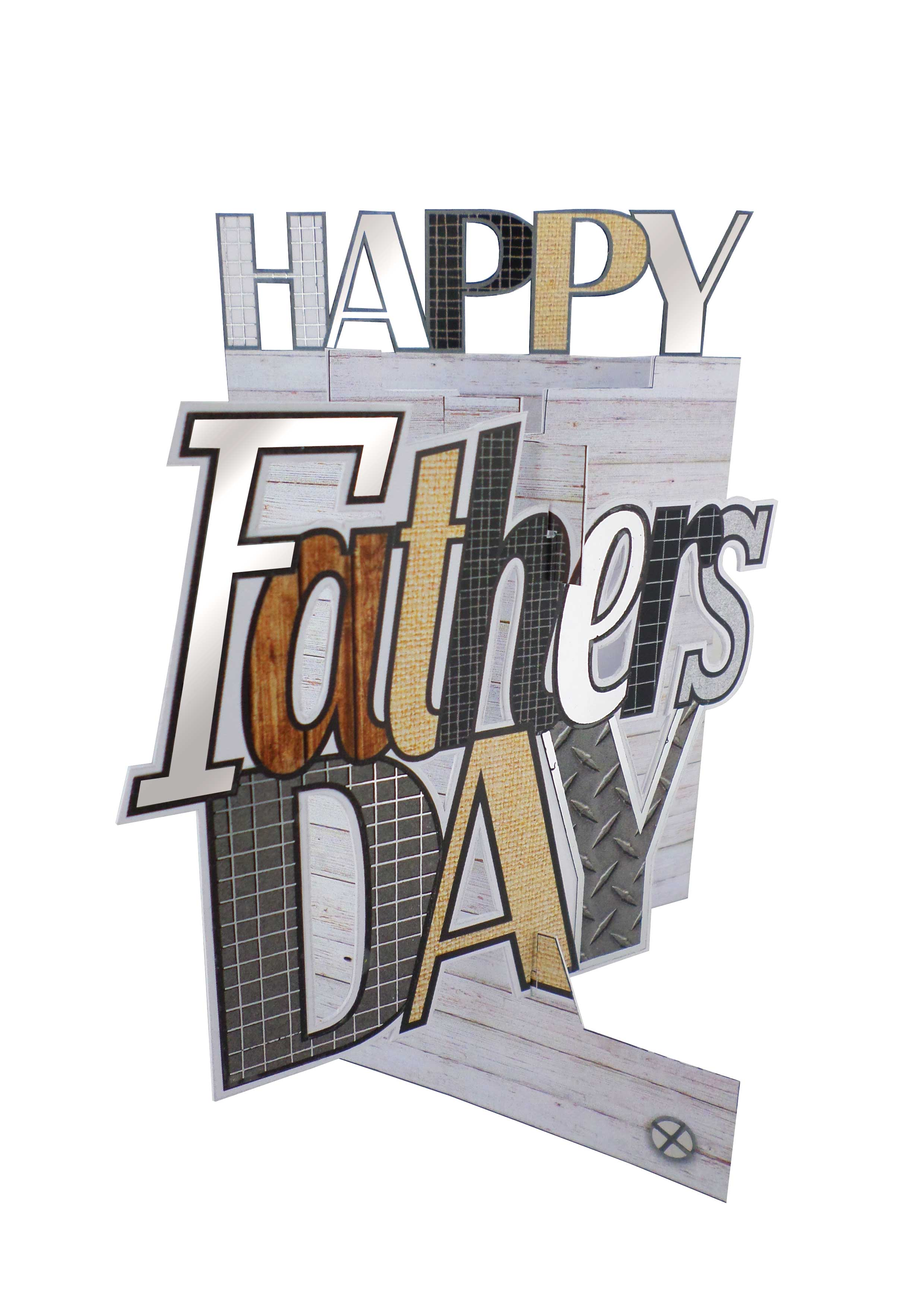 Father/'s Day Card Super Amazing Dad 3D Cutting Edge Greeting Cards