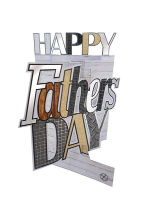 Happy Father's Day 3D Cutting Edge Greeting Card