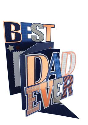 Best Dad Ever 3D Cutting Edge Greeting Cards