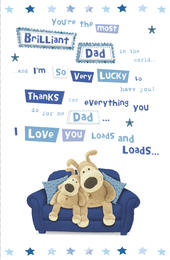 Boofle Father's Day Card The Most Brilliant Dad
