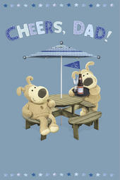 Boofle Father's Day Card Cheers Dad