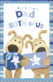 Boofle Father's Day Card To Dad From Both Of Us
