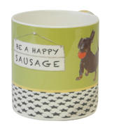 Be A Happy Sausage Little Dog Laughed Mug In Gift Box