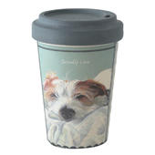 Scruffy Love Little Dog Laughed Bamboo Travel Cup