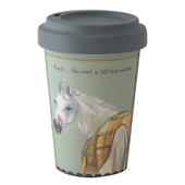 Horse In Coat Little Dog Laughed Bamboo Travel Cup