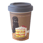 Black Labrador Little Dog Laughed Bamboo Travel Cup