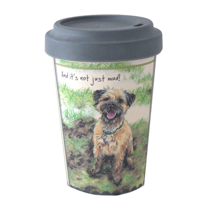 Stinky Border Terrier Little Dog Laughed Bamboo Travel Cup