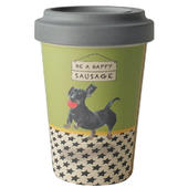 Happy Sausage Little Dog Laughed Bamboo Travel Cup