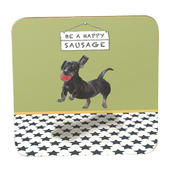 Be A Happy Sausage Dachshund Little Dog Laughed Coaster