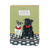 If We Get Caught You're Deaf I Don't Speak English Little Dog Laughed Notebook
