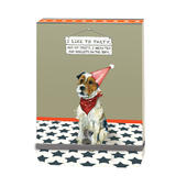 Tea & Biscuits On The Sofa Little Dog Laughed Notebook