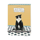 I'm Totally Flexible Black Cat Little Dog Laughed Notebook